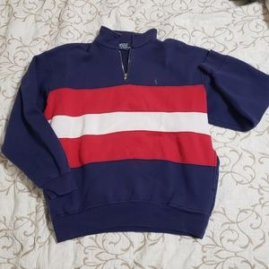 Vintage Polo Ralph Lauren Striped 1/4 zip